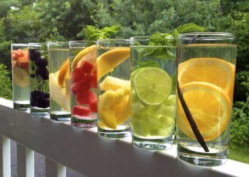 Beber mais água: Água com Sabores