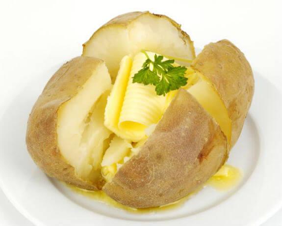 Batata inglesa com manteiga: Informação Nutricional