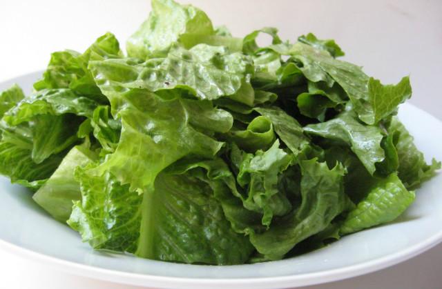 Folhas verdes para a inflamação