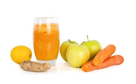 Receita de Smoothie de maçã, cenoura e gengibre