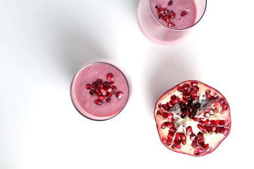 Receita de Smoothie antioxidante de romã
