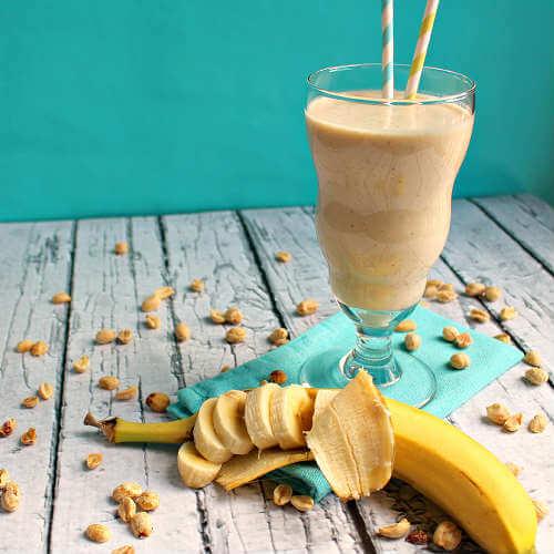 Receita de Smoothie de banana e manteiga de amendoim