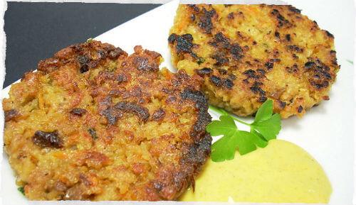 Carne vegetal frita: Informação Nutricional