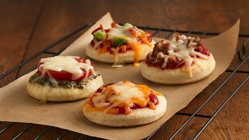 Mini pizzas semiprontas: Informação Nutricional