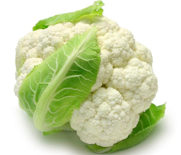 Couve-flor cozida: Informação Nutricional