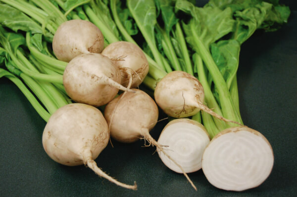 Beterraba branca: Informação nutricional