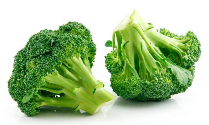 Brócolis ao alho e óleo: Informação nutricional