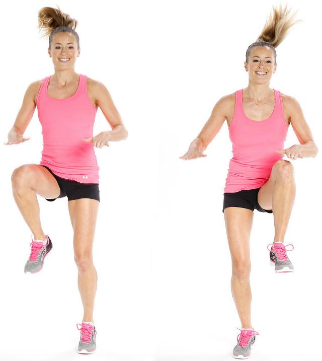 High Knee Pulls - Elevação de joelhos com pulo