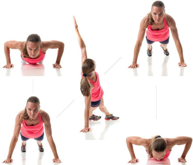 push ups (flexões) com prancha lateral