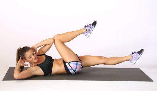 Exercício abdominal bicicleta ou bicycle crunches