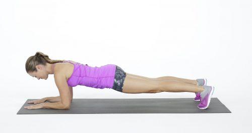 Exercício prancha básico para fortalecer o core