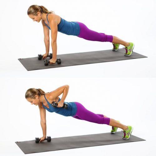Exercício remanda renegade ou renegade row para iniciantes
