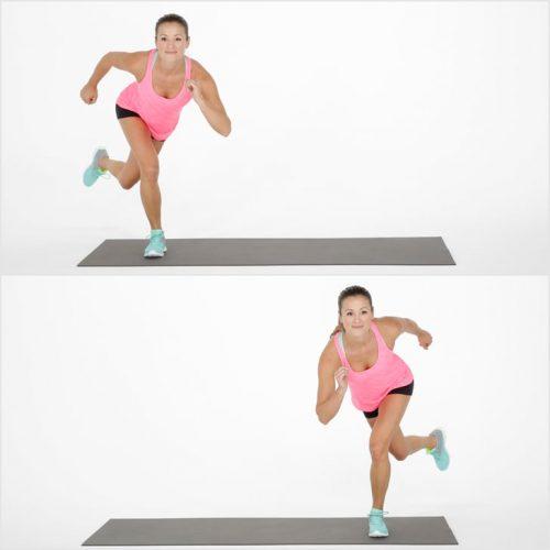 Exercício skater ou jumps laterais